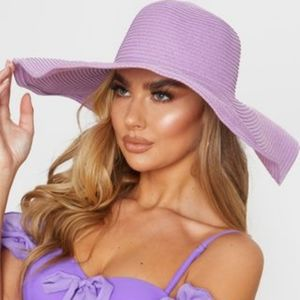 Purple Large floppy sun hat